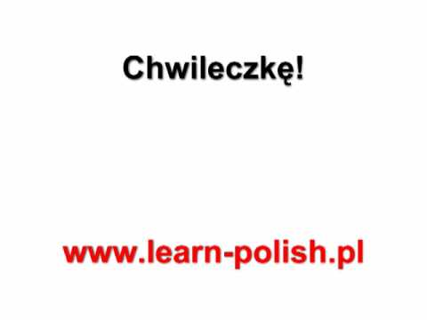 Basic Survival Polish Lessons. Lesson 12 Corso di Polacco a Danzica