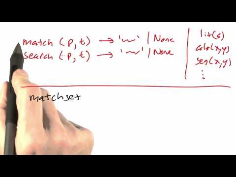 Search and match - CS212 Unit 3 - Udacity