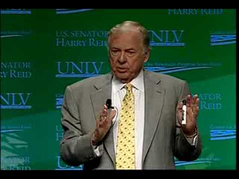 T Boone Pickens at National Clean Energy Summit, Las Vegas