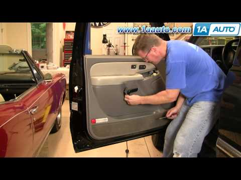 How To Install Replace Door Panel Chevy GMC Silverado Sierra Tahoe Yukon 99-02 1AAuto.com