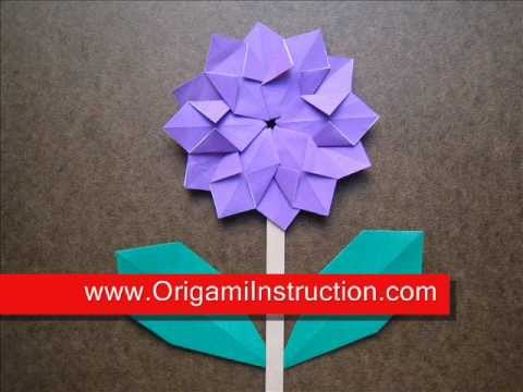 How to Fold Origami Modular Flower - OrigamiInstruction.com