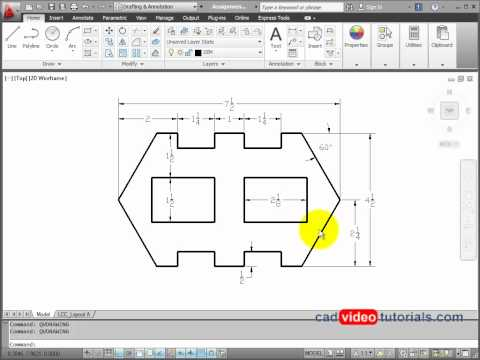 AutoCAD 2012 Drawing Project 8.2 - Sheet Metal Stamping