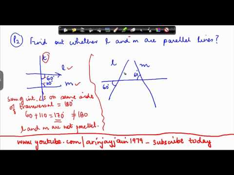 131-$ CBSE Class VI Maths,  ICSE Class VI Maths -  problem on transversal lines - 2