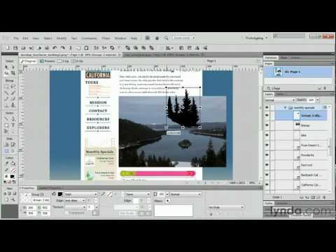Adobe Fireworks: Working with vector masks | lynda.com tutorial