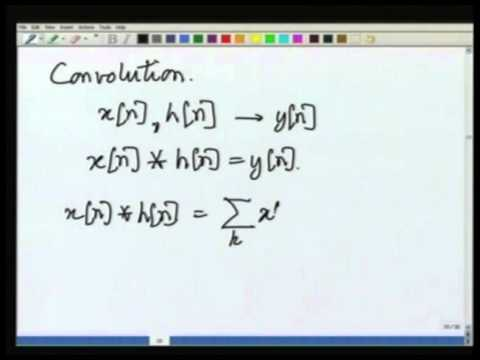 Lecture-12 Representation of Discrete Time Convolution