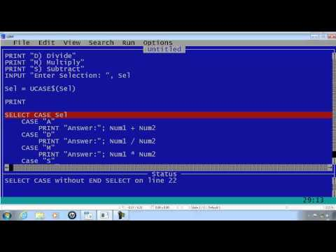 QBasic Tutorial 12 - Simple Calculator With Input Validation - QB64