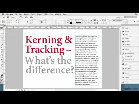InDesign tutorial: Defining kerning and tracking | lynda.com