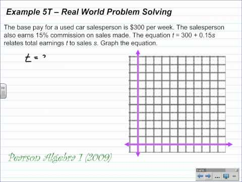 Algebra 1 Lesson 6.2 Part 2 Graphing Equations with Slope Intercept Form