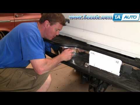 How To Install Replace License Plate Light GMC Sierra Chevy Silverado Tahoe Yukon 1AAuto.com