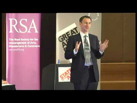 Jeremy Hunt MP: 21st century culture - Making art matter in the 21st century