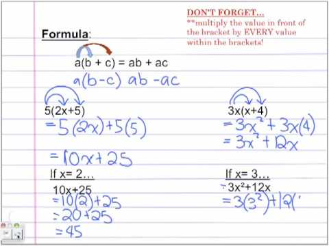 Distributive Property and Like Terms by Tanya