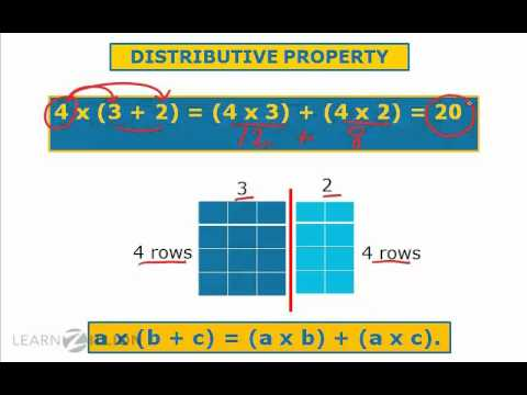 Apply the distributive property using area models - 3.MD.7