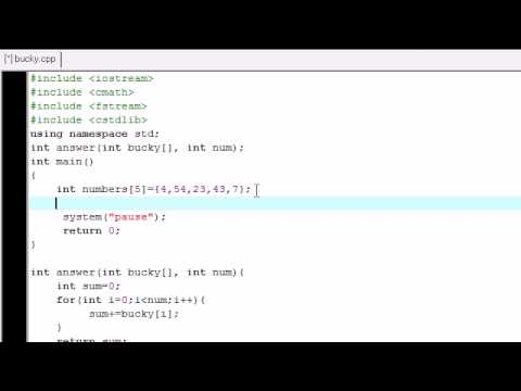 C++ Tutorial - 25 - Passing Arrays into Functions