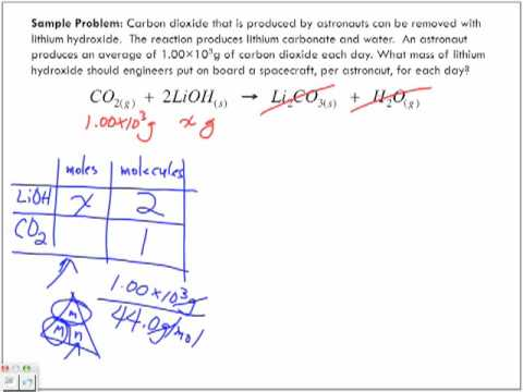Stoichiometry Sample Problems Part 3