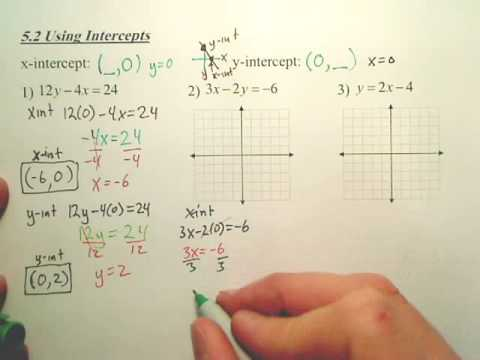 5.2 Using Intercepts - Algebra 1