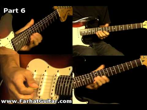 Money Pink Floyd Guitar Cover Part  6  www.farhatguitar.com