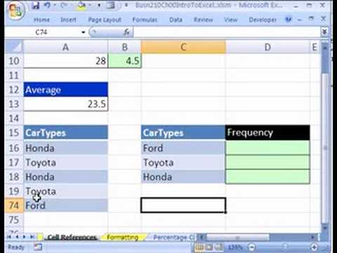 Excel Statistics 05: Cell References in Formulas