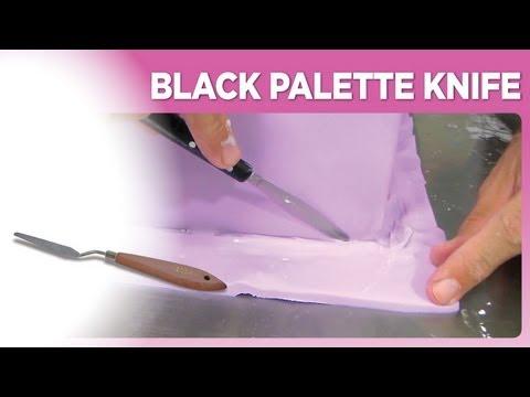 Black Palette Knife
