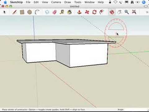 SketchUp: Constructing gabled roofs