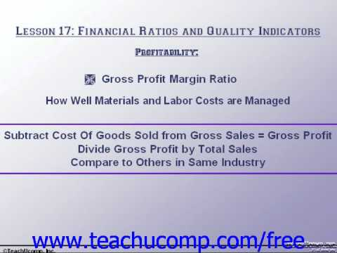 Accounting Tutorial Profitablility Training Lesson 17.4