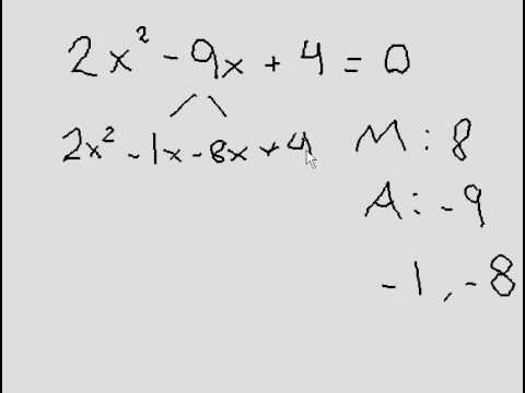 Solving Quadratic Equation (Factoring), when 'a' is not equal to 1.