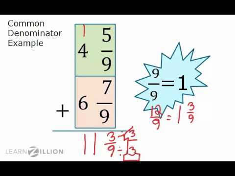 Add mixed fractions by regrouping - 7.NS.1