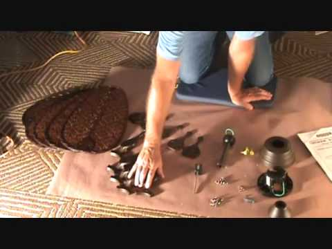 How to Install a Ceiling Fan: Unpacking a Ceiling Fan contents