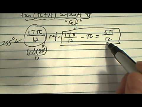 Trig Identities & Special Triangle:  (tan of 17pi/12))