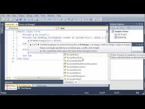 Visual Basic Tutorial - 164 - Introduction To Graphics