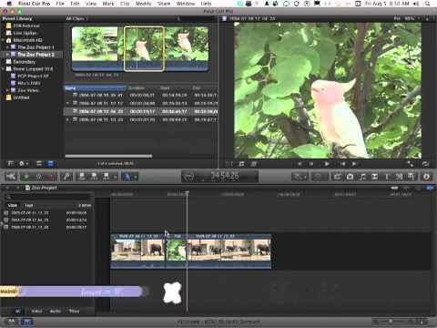 Apple Final Cut Pro X Tutorial - How to Edit Using Endpoints