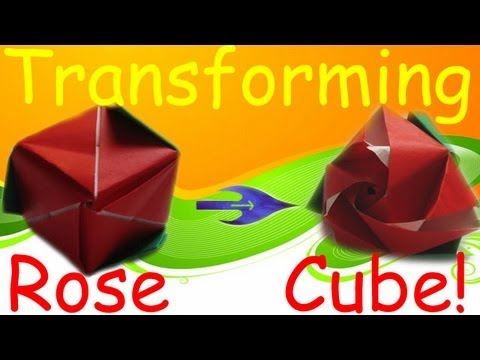 How To Make a (ORIGAMI) Paper TRANSFORMING ROSE (Valarie Vann)  - TCGames [HD]!