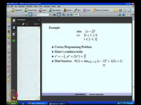 Mod-08 Lec-29 Lagrangian Saddle Point and Wolfe Dual