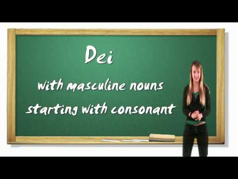 Italian Lesson 4 - indefinite articles and months of the year - www.girls4teaching.com