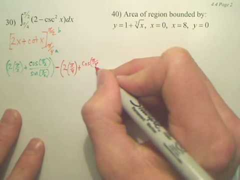4.4b1 The Fundamental Theorem of Calculus - Calculus