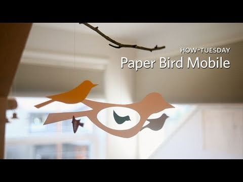 How-Tuesday: Kid-Friendly Bird Mobile