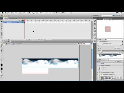 Flash tutorial: Creating custom looping animation | lynda.com