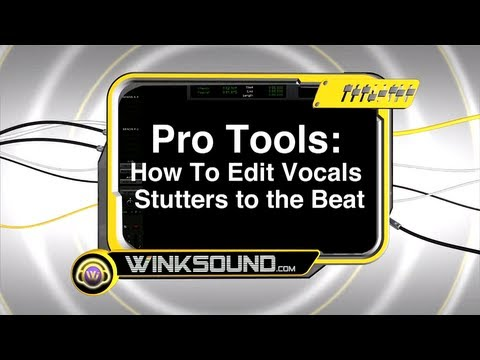 Pro Tools: How To Edit Vocal Stutters | WinkSound