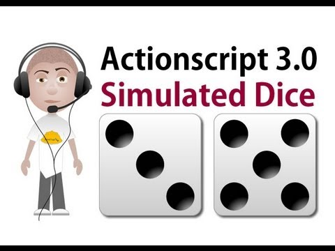 Actionscript 3.0 Simulated Dice Throw Tutorial for AS3 Flash Game Programming