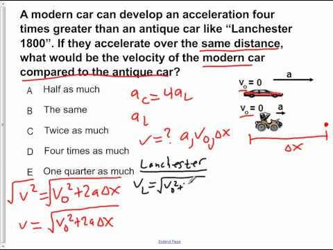 AP Physics B Kinematics Presentation #21