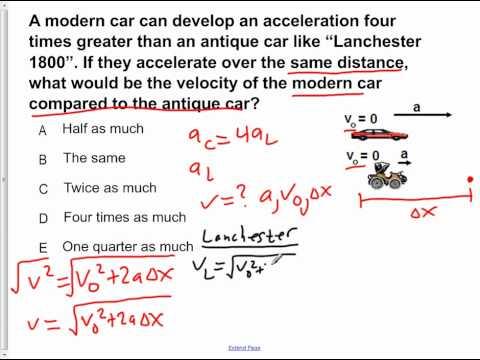 AP Physics B Kinematics Presentation #21