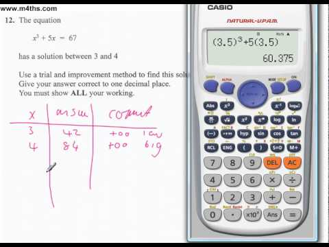 q12 Edexcel Linear Higher June 2011 calculator (quick worked example)