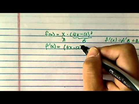 how to find derivative using the chain rule