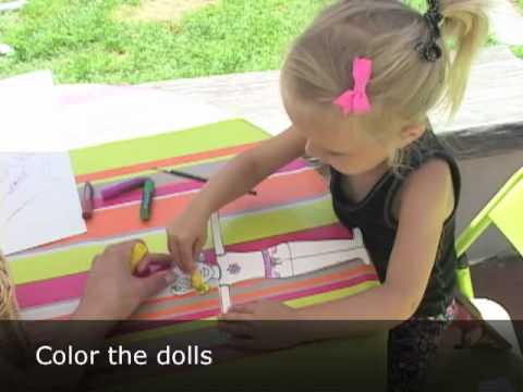How to Make Paper Dolls With Children