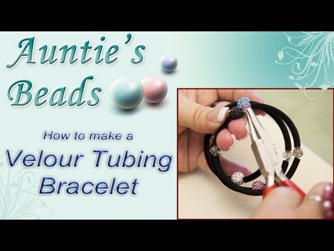 Karla Kam - How to make a Velour Tubing Bracelet