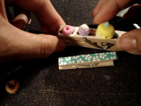 DIY Deco Den How to Make a Kawaii Clip Magnet With Mini Donut and Ice Cream Scoop