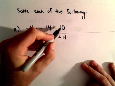 Solving Two - Step Linear Equations