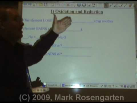 Chemistry Tutorial 8.02a:  Oxidation And Reduction
