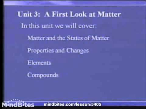 Chemistry Fundamentals: First Look at Matter