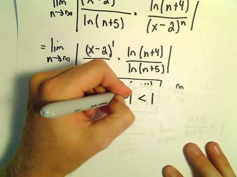 Interval and Radius of Convergence for a Series, Ex 6