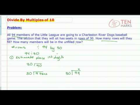 Divide by 2 Digit Multiples of 10